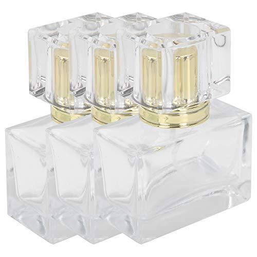 Botella de spray de perfume de contenedor de maquillaje portátil recargable para loción de cuidado de la piel para maquillaje de bricolaje(Golden)
