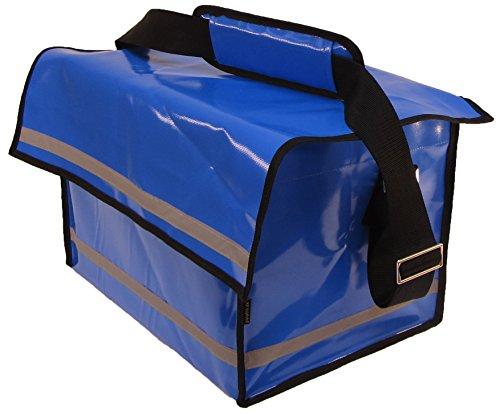 Umhängetasche Go in blau, Zustellertasche Zeitungstasche