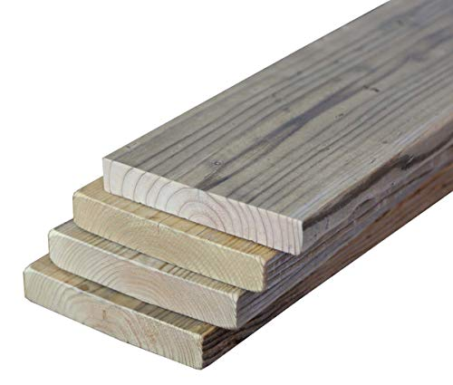 OLD ASHIBA (杉足場板古材) フリー板 4枚セット 厚35mm×幅200/210mm×長さ500mm(50cm) 無塗装 ※...