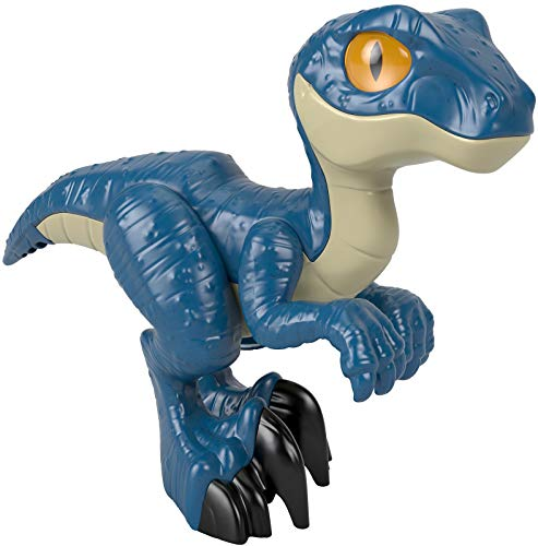 Fisher-Price Imaginext Jurassic World Raptor XL, Extra Large Dinosaur Figure for Preschool Kids Ages 3 to 8 Years