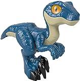 Fisher-Price Imaginext Jurassic World 3 Raptor XL Dinosaurio articulado de juguete para niños +3 años (Mattel GWP07)