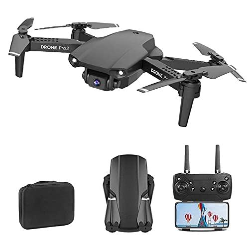 JJDSN Mini Drone con Droni a Doppia Fotocamera 4K per Adulti FPV Live Video Quadricottero RC Una Chiave per Tornare a Casa ad Altezza Fissa Traiettoria Volo Gesto Foto