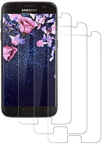 3 Unidades Cristal Templado para Galaxy S7, Protector de Pantalla para Samsung...