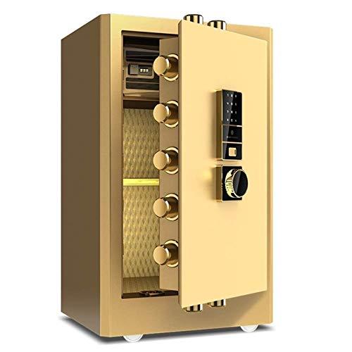 SMLZV Cajas fuertes, Caja de seguridad digital delantero Depósito de efectivo de carga Caja fuerte con gota Bóveda (Color : Gold)