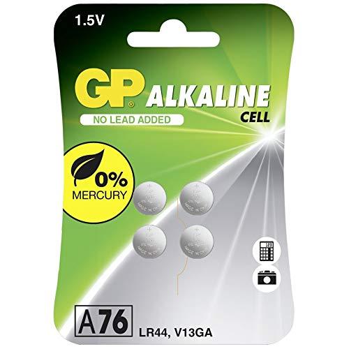 GP 05076AC4 Alkaline Knopfzelle 76A (V13GA / L1154), 4er Blister