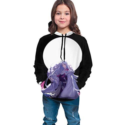Ahdyr Sudaderas con Capucha Unisex para Adolescentes Inuyasha SesshoMaru Sudaderas con Capucha Unisex con Estampado 3D Sudaderas con Capucha con Capucha para niños/niñas/años de la adolescencia