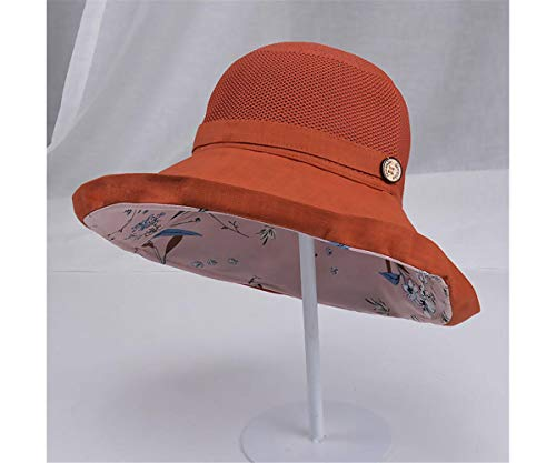 La Signora Tutta L'EstateCrema Solare Viaggi Aerei Cappello da Sole Pieghevole di Grandi Dimensioni Cotone a Tesa Larga Pescatore UV UPF50 +