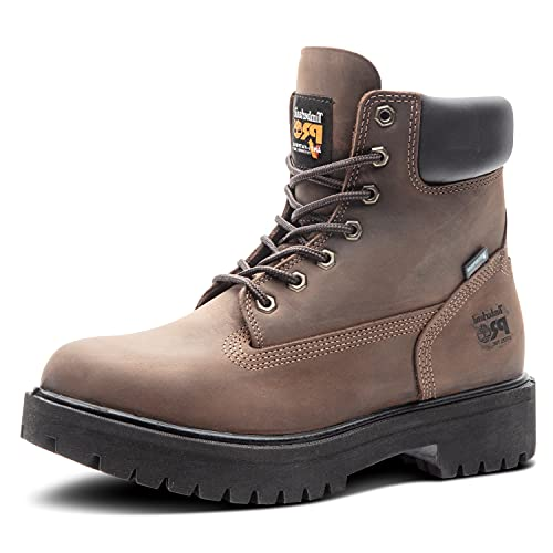 Timberland PRO Men's Direct Attach 6 Inch Steel Safety Toe Insulated Waterproof Industrial Work Boot, Brown, 12