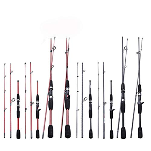 Goods-Store-uk Fishing Rods Rojo o Negro 1,8 m 2,1 m M Mango...