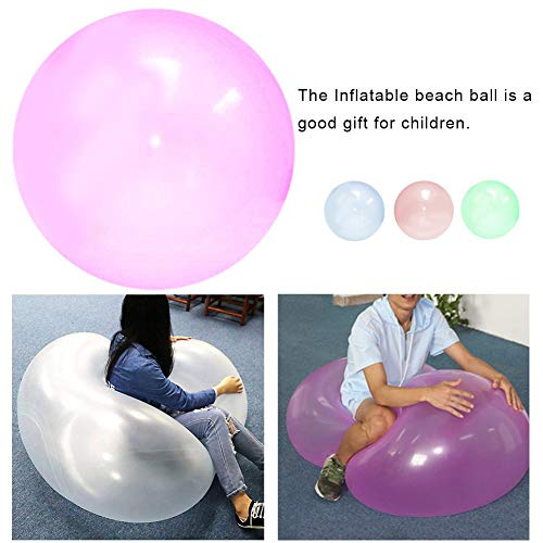Destinely Wasserbälle Giant Inflatable Beach Ball Langlebig und transparent Strandball Wasserball kann aufblasbar und mit Wasser gefüllt Sein für Partys, Spielzeug Ballon, der sitzen kann