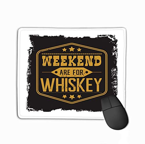 Muismat Muismat Weekend Whiskey Motto Zwart Frame Sterren Vintage Amerikaanse Whiski Lable Decor Stijl