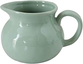 Squat Spouted Handled Mint Green 24 ounce Glossy Ceramic Stoneware Pitcher