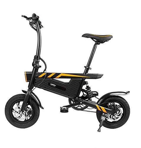June Bicicleta Eléctrica Plegable Freno De Doble Disco Eléctrico 36 V 250 W Neumáticos De 16 Pulgadas Bicicleta Plegable E-MTB De Una Sola Velocidad De 25 Km/H para Adultos Y Estudiantes Negro,Black
