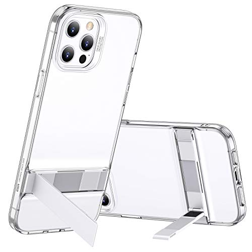 ESR Protective Case with Kickstand Compatible with iPhone 12 Pro Max 6.7-Inch, with Patented Metal Kickstand, Portrait and Landscape Mode, Comprehensive Protection, Clear