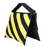 VBESTLIFE Yellow & Black Studio Gewichtssandsack, Stripes Sand Bag Sandsack Gewichtssäcke für...