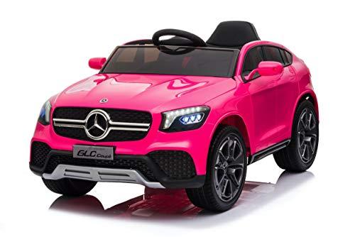 TOYSCAR electronic way to drive Auto Macchina Elettrica per Bambini 12V Mercedes GLC Coupè con Telecomando Rosa