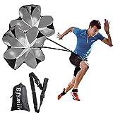 Bfsmile Running Speed Training 56 inch Parachute. Speed Chute for Weight Bearing Running and Fitness Core Strength Training (2 Umbrella)
