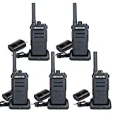Retevis RB26 GMRS Handheld 2 Way Radio, 30 Channel Two Way Radio Long Range, VOX Rugged Walkie Talkie with Type-C Charger for Adults Security Commercial (5 Pack)
