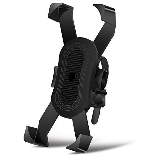 Asika 自転車 スマホ ホルダー 振れ止め 多重ロック 脱落防止 防水 角度調整 360度回転 脱着簡単 強力な保護 3.5-6.5インチ Android/iPhone多機種スマホ対応 オートバイ バイク GPSナビ 携帯 固定用 スマホホルダー
