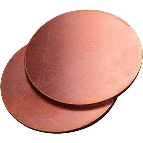 Kupferplatte, rund, Kupferblech, reine Kupferplatte, Kupferplatte, Kupferstab, DIY Verarbeitung, 2 Stück, 1x50mm, 1