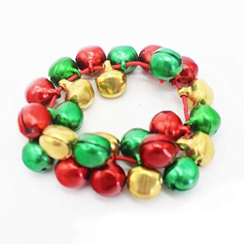 Qirun Las Pulseras elásticas Coloridas de la Danza de los cascabeles embroman la joyería para la Fiesta de Navidad