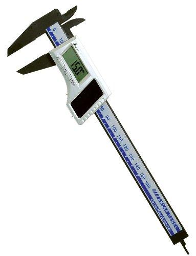 シンワ デジタルノギス カーボンファイバー製 150mm ソーラーパネル 1セット(5本)