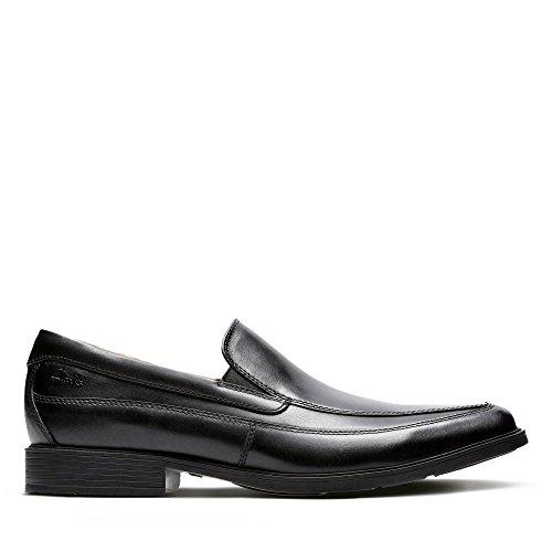 Clarks Men's Tilden Free Slipper, Schwarz (Black Leather), 41.5 EU