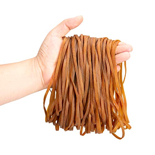 Large Rubber Bands 150pcs,Strong Elastic Rubber Bands for Office Supply,Trash Can, File Folder, Perfect for Home and Office
