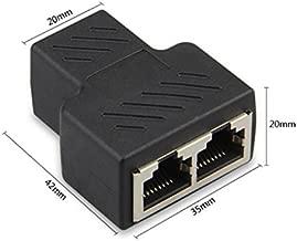 Riipoo RJ45 Network Splitter Adapter 1 RJ45 Female to 2 RJ45 Female Network Splitter Adapter, LAN Connector, Suitable for Super Category 5 Ethernet, Category 6 Ethernet