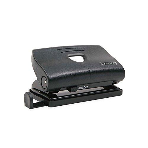 Rapesco PF87S0B1 810-P - Perforadora de 2 Agujeros, 12 Hojas de Capacidad, Negra