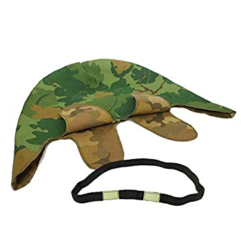 WWII US M1 Mitchell Helmet Cover with Eye Strap Belt
