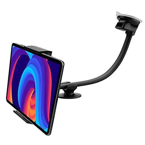 Soporte Tablet Coche salpicadero Doble Ventosa Compatible con iPad Todos los Modelos