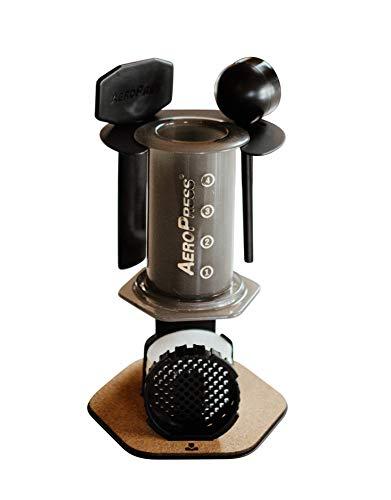 Proper | AeroPress Companion – Organizer, Holder & Display Stand for AeroPress Coffee Maker, AeroPress Accessories, & AeroPress Filters (Matte Black)