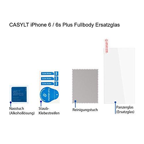 CASYLT Ersatzglas für iPhone 6 Plus / 6s Plus Premium Fullbody 360 Grad