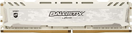 Crucial Ballistix Sport LT BLS4G4D240FSC 2400 MHz, DDR4, DRAM, Memoria Gamer para ordenadores de sobremesa, 4 GB, CL16 (Blanco)