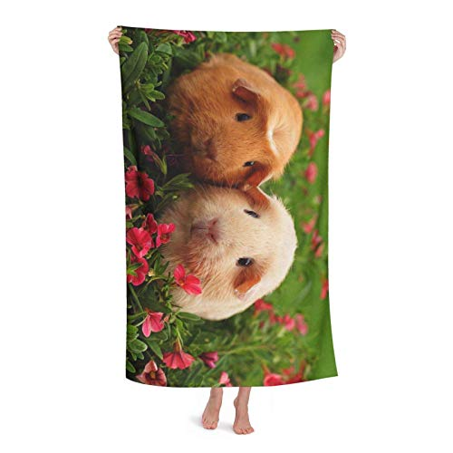 Toallas De Secado Rápido Conejillo De Indias Toalla Lujo Toallas De Baño Soft Towels por Yoga Hombre Piscina 80X130 Cm