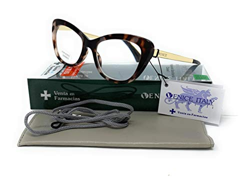 Gafas de presbicia Mujer Diseño en Colores: Demi, Grey, Beige. VENICE Hepburn - Dioptrías: 1 a 3,5 (Grey, 1,50)