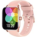 Y&L Smart Watch, Fitness Tracker with Heart Rate Monitor, Sleep Monitor, 5ATM Waterproof Smartwatch Compatible with iPhone and Android Phones for Women Men,Pink