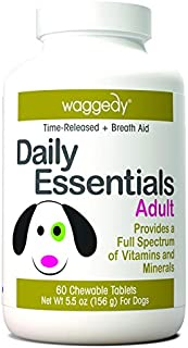 Waggedy Dog Vitamins, Dog Multivitamin, Puppy, Adult, Senior Dog Treats to Promote Immune System & Joint Health for Dogs, Chewable Nutritional Supplement for Dogs, Made in The USA, Time Released