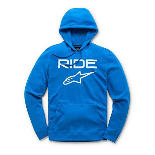 Alpinestars logo Pull Homme Ride 2.0 Fleece Bright Blue/White FR : L (Taille Fabricant : L)