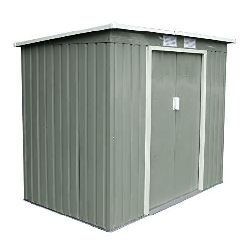 *SVITA P100 Metall Gerätehaus 213×130×173cm Geräteschuppen Schuppen Gartenhaus Outdoor hellgrün grün*