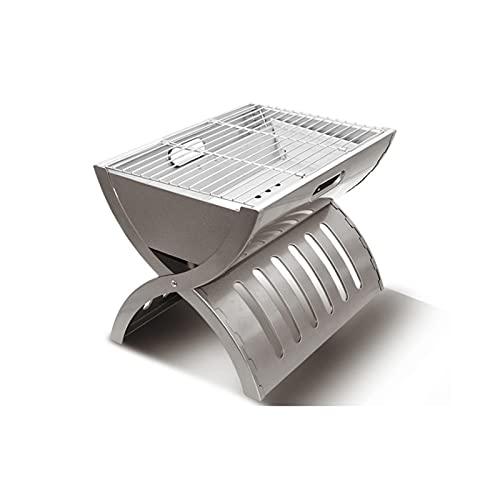 FEANG Grill Tragbare Holzkohle-Grill-Tischplatte BBQ-Grill, der kleine Grillgitter-Grill für das Grillen des Outdoor-Grills Camping-Wandern-Picknicks Kochen Grillwerkzeug