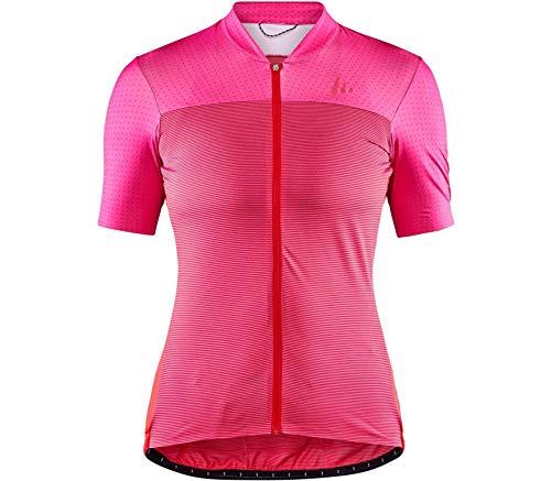 Craft Damen HALE Glow Jersey Radtrikot, Fame/Bright Red, XXL