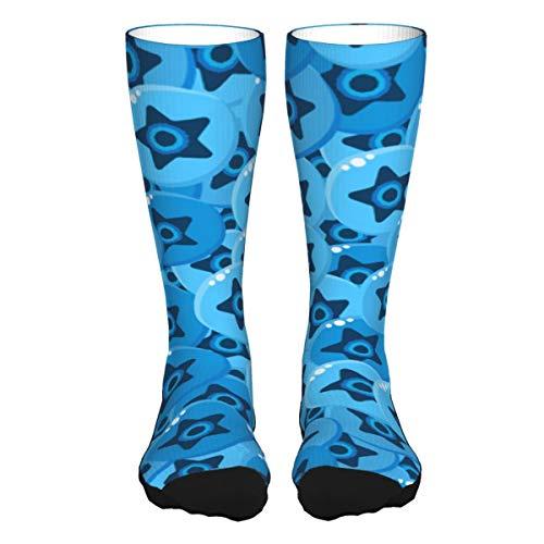 La's DreamHome Blueberry - Calcetines de compresión gruesos de color de contraste para mujer y hombre