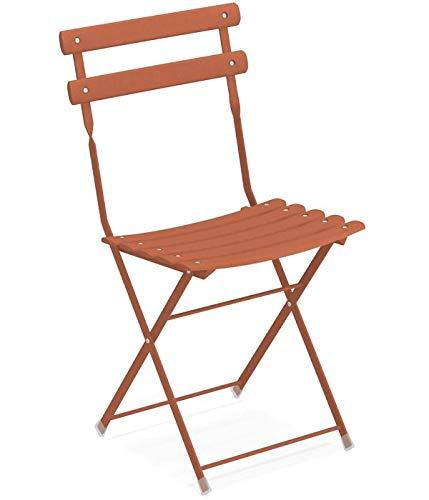 Emu Arc en Ciel Folding Chair Item.314 Color Maple Red 26