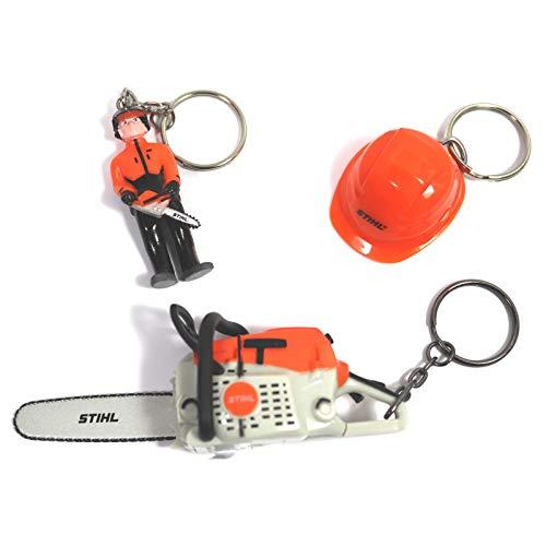 Stihl Schlüsselanhänger 3-er Set Arbeiter Waldarbeiter Stihl