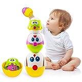 Toddler Easter toys,Easter egg,Stacking toys for toddlers,Nesting dolls,8 Pcs Easter Egg Toys for Toddler