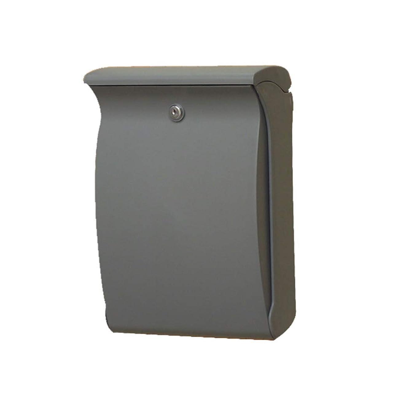 ガチョウ巻き戻す卵メールボックス、屋外用アンチUVプラスチックメールボックスメールボックスレターボックスサジェストボックス(カラー:GREY)