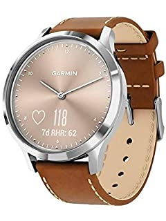 Garmin vivomove HR, Hybrid Smartwatch for Men and Women, Silver with Tan Italian Leather (B07PV62LRB) | Amazon price tracker / tracking, Amazon price history charts, Amazon price watches, Amazon price drop alerts