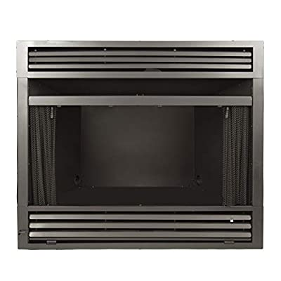 Pleasant Hearth 32 in. Circulating Zero Clearance Universal Vent Free firebox, Black from GHP Group, Inc.